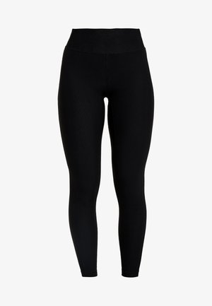 VISION SHINY HIGH WAIST - Leggings - black