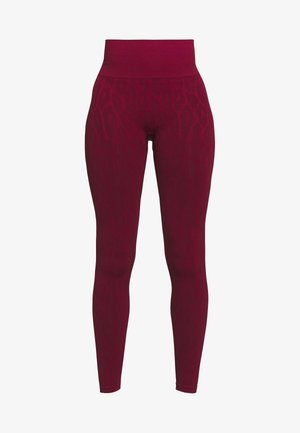 SEAMLESS LEO  - Legging - moving red