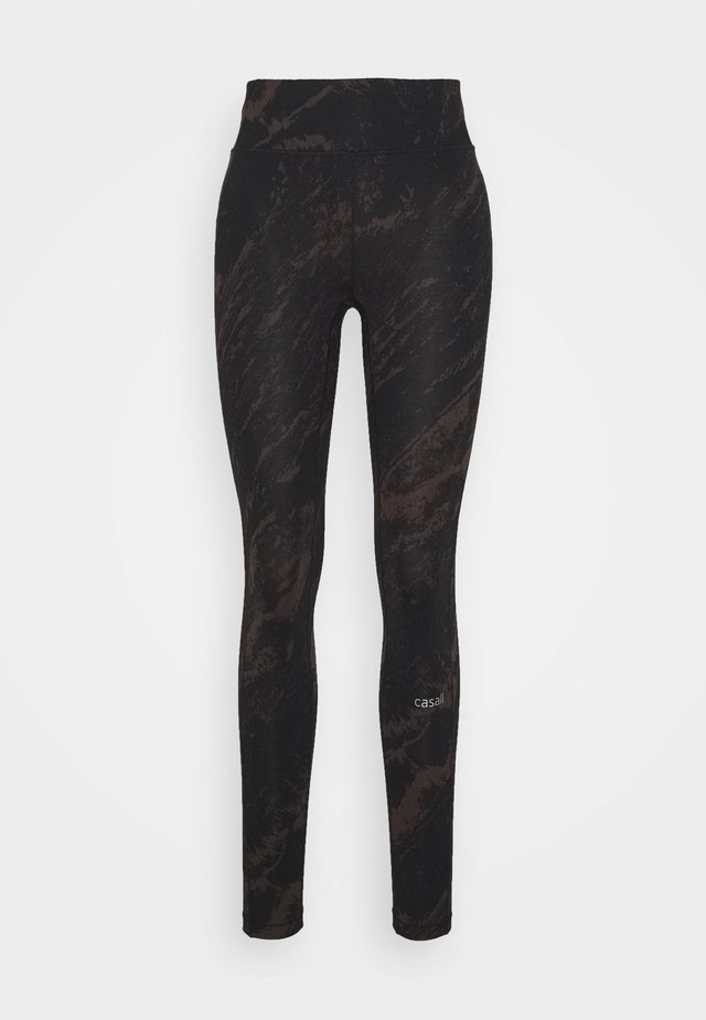 CLASSIC PRINTED 7/8 - Leggings - impulsive brown