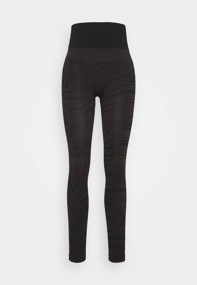 SEAMLESS MELTED - Tights - melted brown