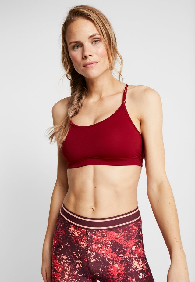 STRAPPY SPORTS BRA - Sport BH - moving red
