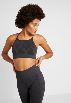 LEO STRAP  - Sports bra - dark grey