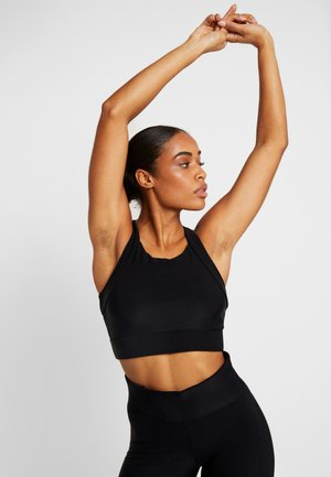VISION SHINY SPORTS - Sports bra - black