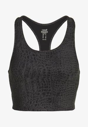 CROCO CROPPED TOP - Sports bra - grey