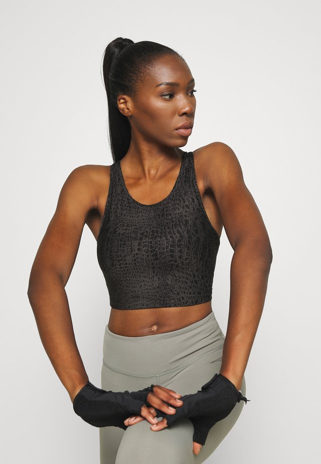 CROCO CROPPED - Sports bra - grey