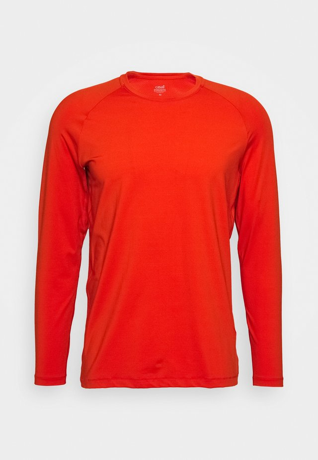 STRUCTURED LONGSLEEVE - Long sleeved top - intense orange