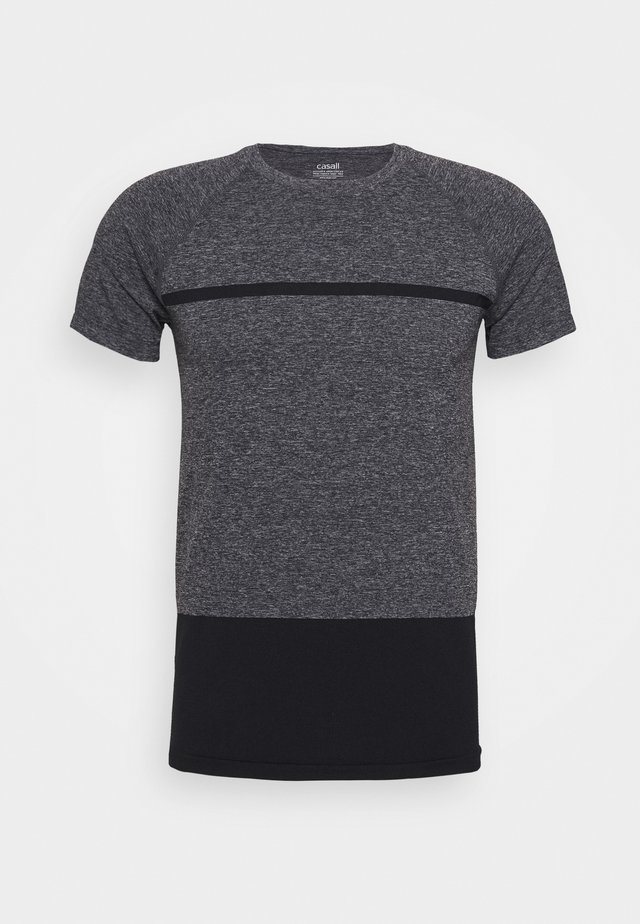 SEAMLESS TEE - Sports shirt - dark grey melange