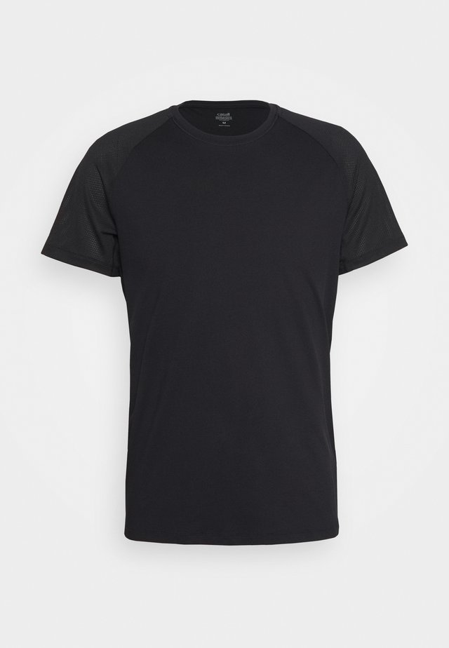 STRUCTURED TEE - Basic T-shirt - black