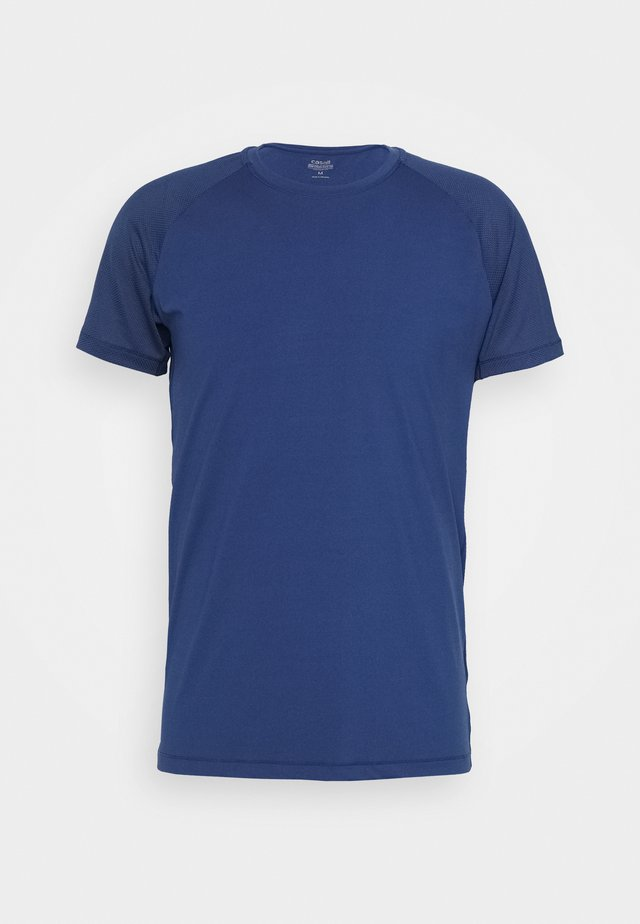 STRUCTURED TEE - Sports shirt - steady blue