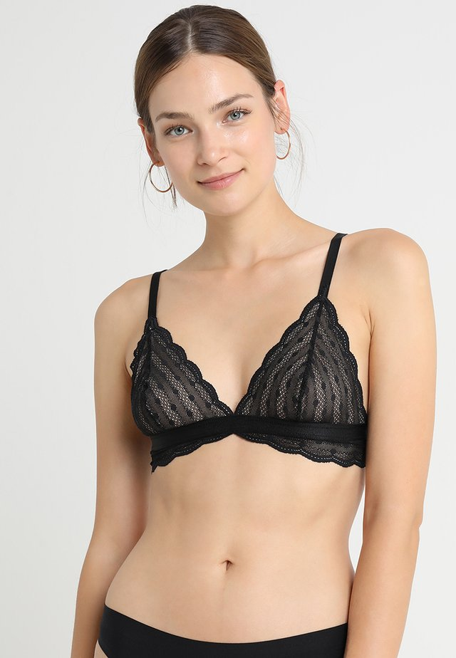 TREATS DOTS BRALET - Triangle bra - black