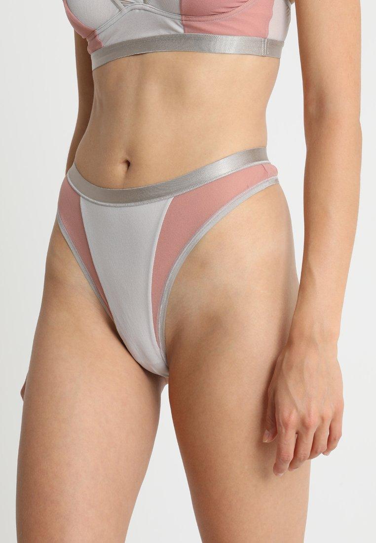 Cosabella - MIXED HIGH LEG THONG - String - pink/light grey/grey