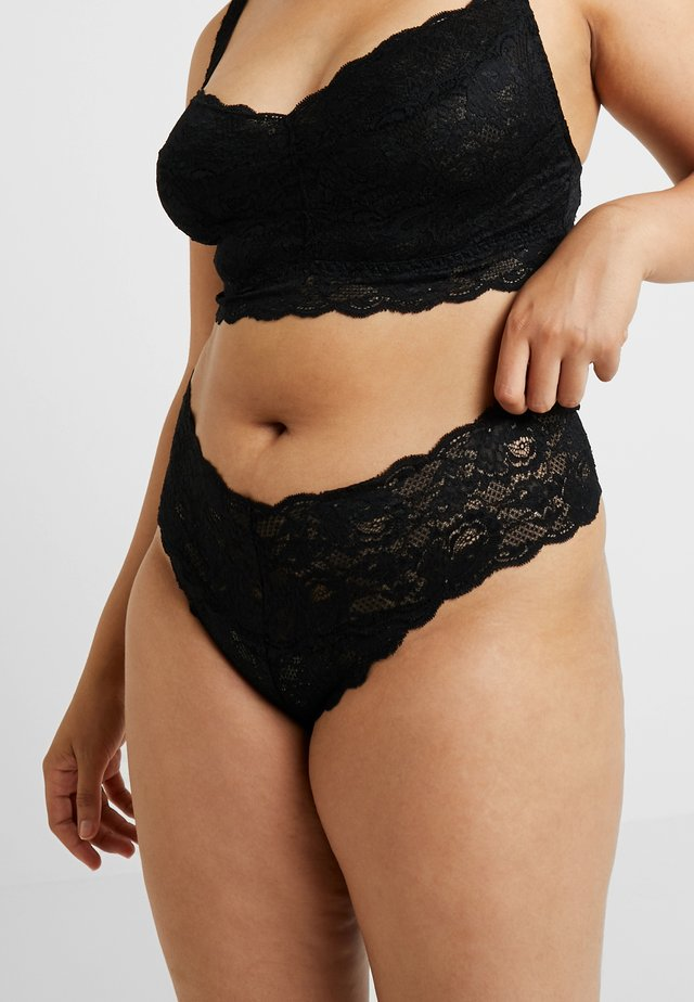 NEVER SAY NEVER PLUS CUTIE THONG - String - black
