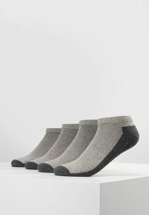 SNEAKER 4 PACK - Trainer socks - grey