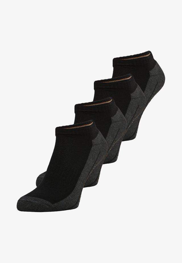 SNEAKER 4 PACK - Enkelsokken - black