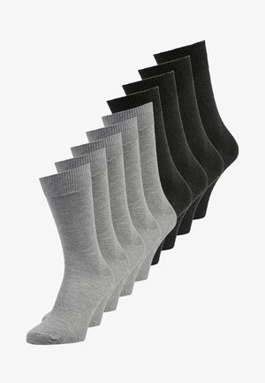 9 PACK - Socks - light grey melange/antracite