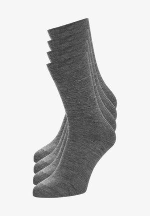 SOFT WOOL 4 PACK - Strømper - light grey/light grey