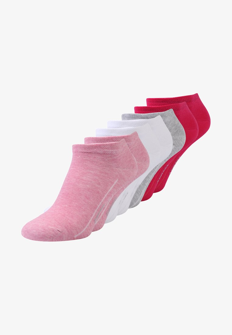 camano - SOFT SNEAKER BOX 7 PACK - Sokker - pink melange/white/pink rose/fog melange