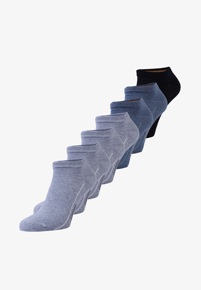 SOFT SNEAKER BOX 7 PACK - Socks - denim melange/stone melange/navy