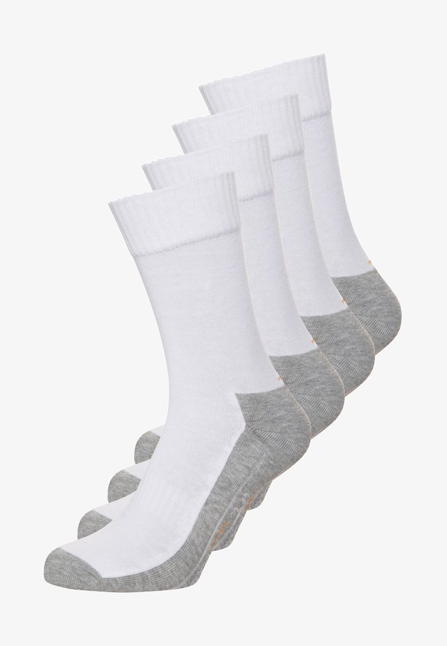 4 PACK - Sports socks - white