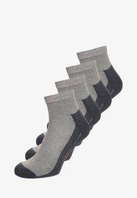 camano - SPORT QUARTER BOX 4 PACK - Sports socks - grey - 0