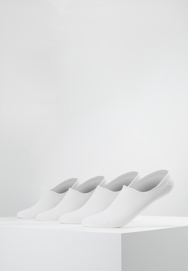 INVISIBLE SNEAKER 4 PACK - Stopki - white