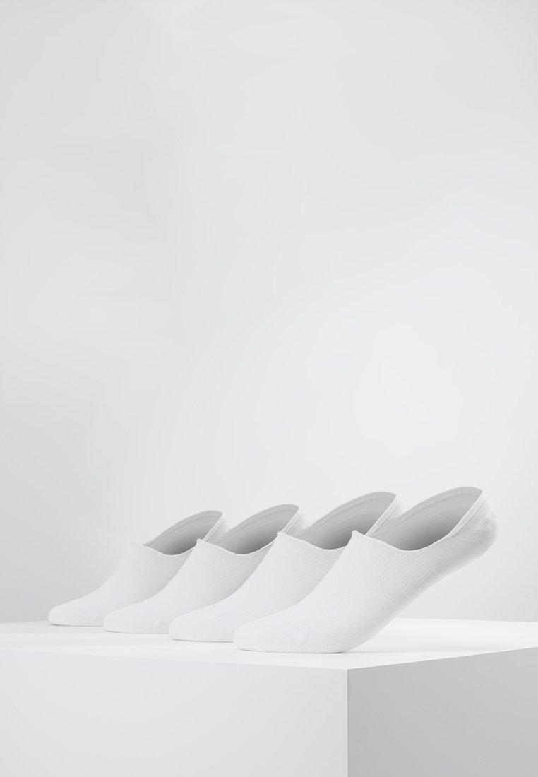 camano - INVISIBLE SNEAKER 4 PACK - Enkelsokken - white
