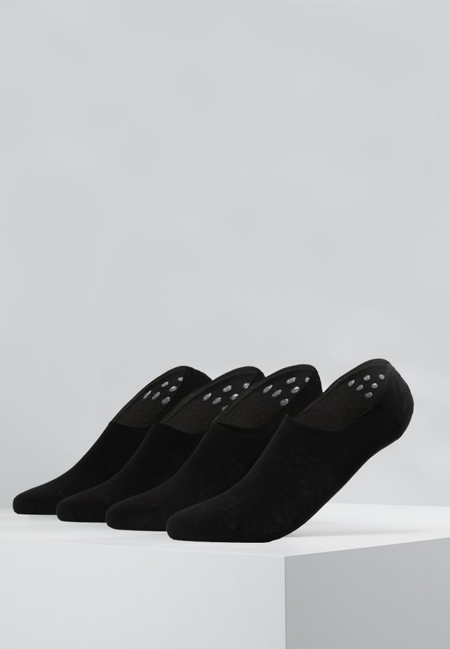 INVISIBLE SNEAKER 4 PACK - Stopki - black