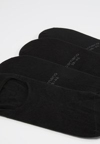camano - INVISIBLE SNEAKER 4 PACK - Füßlinge - black - 2