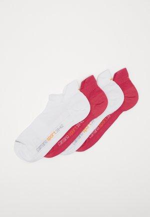 ONLINE SPORT UNISEX FASHION SNEAKER 4 PACK - Trainer socks - pink/white