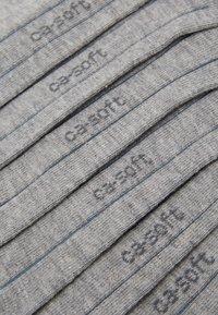 camano - ONLINE UNISEX BASIC SNEAKER 7 PACK - Socks - light grey melange - 2