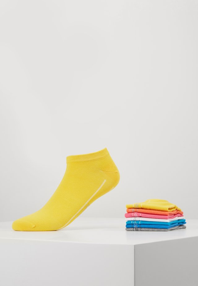 ONLINE UNISEX BASIC SNEAKER 7 PACK - Skarpety - super lemon