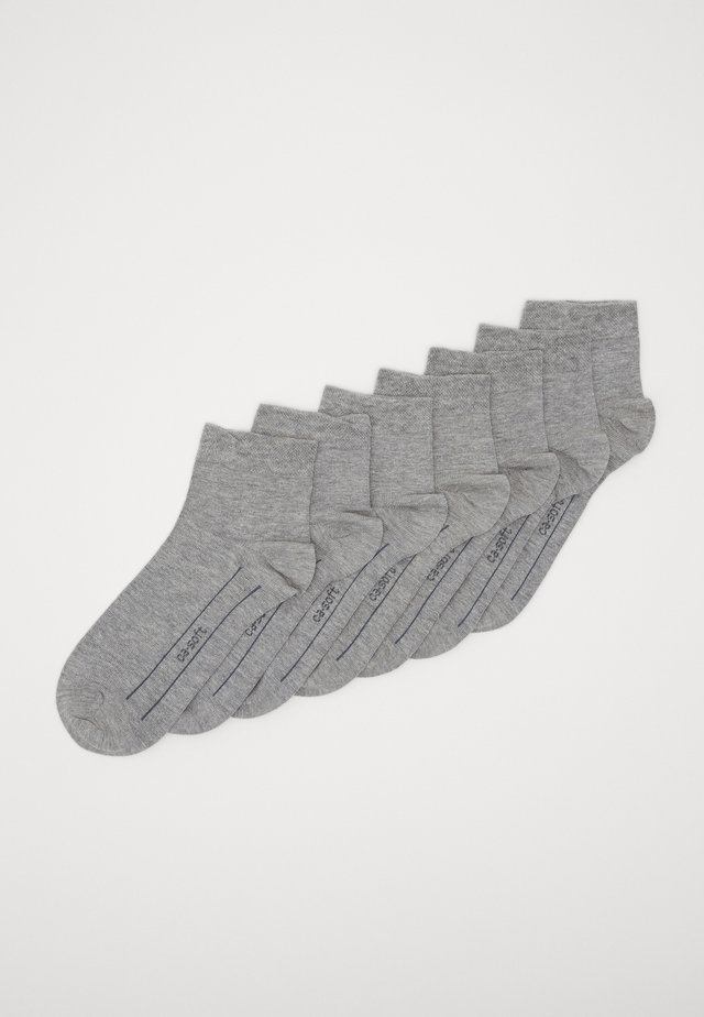 ONLINE UNISEX BASIC 7 PACK - Socks - light grey melange
