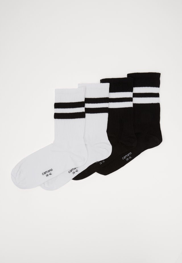 ONLINE UNISEX FASHION 4 PACK - Socks - black white
