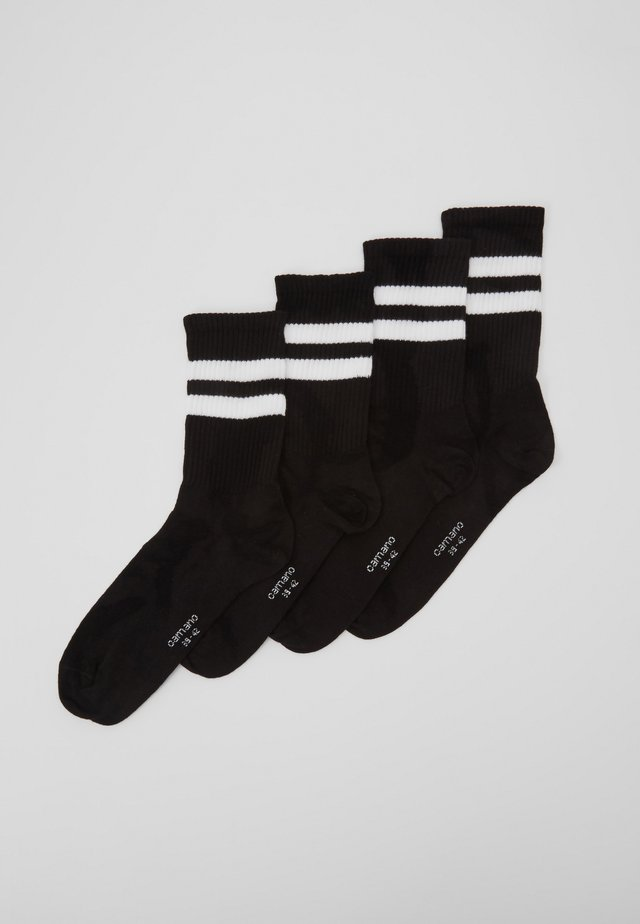 ONLINE UNISEX FASHION 4 PACK - Socks - black