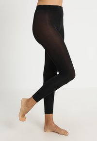 camano - EVERYDAY 2 PACK - Leggings - Stockings - black - 0