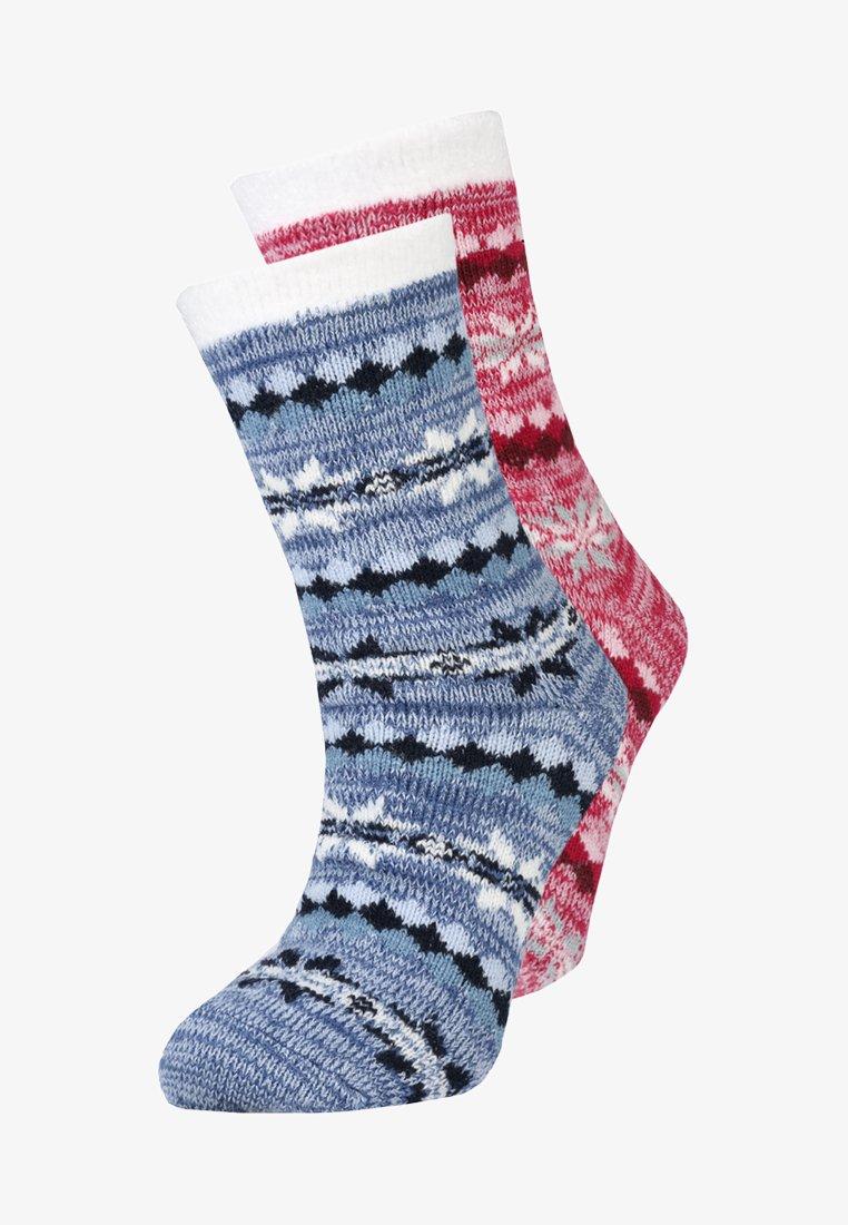 camano - CHRISTMAS 2 PACK - Socken - dark wine/blue
