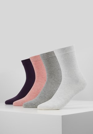 WOMEN SOFT SOCKS 4 PACK - Strumpor - light grey mix