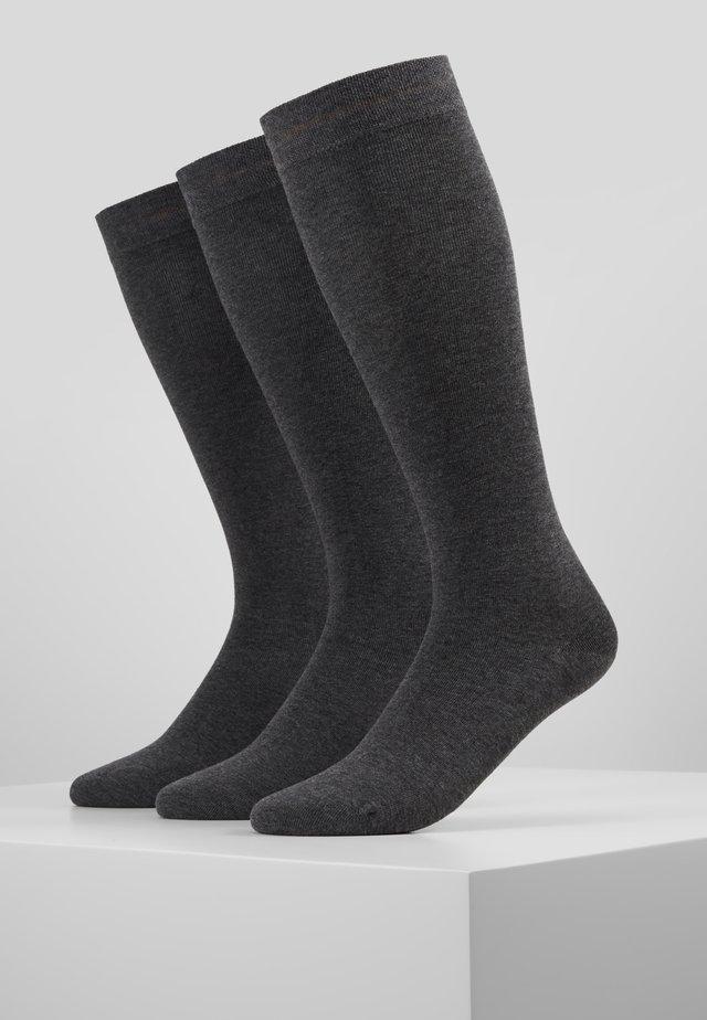 KNIE HIGH 3 PACK - Kniekousen - dark grey melange
