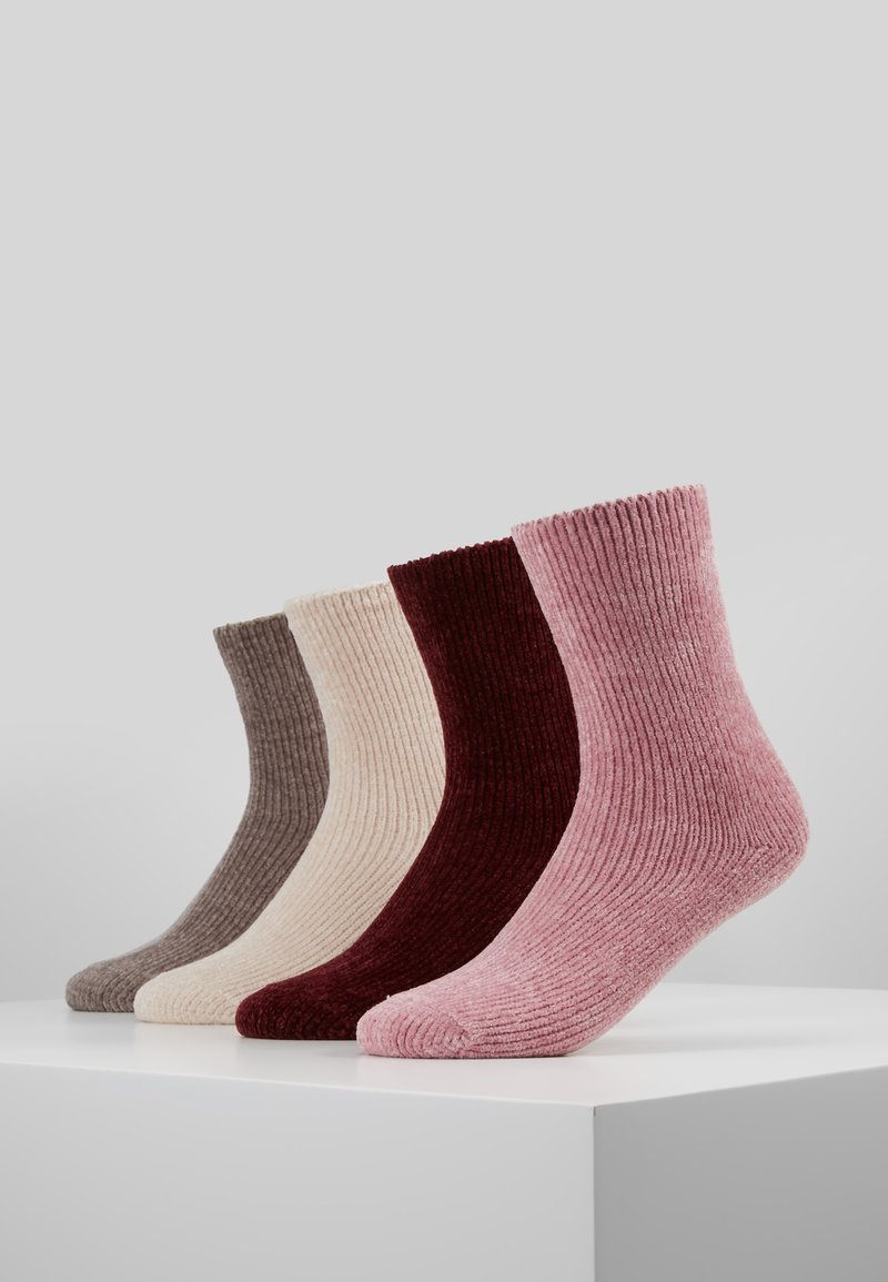 camano - CHINILLE SOCKS 4 PACK - Socks - bordeaux