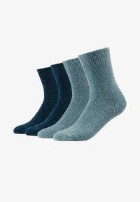 camano - CHINILLE SOCKS 4 PACK - Socken - blue - 1