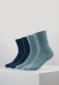 camano - CHINILLE SOCKS 4 PACK - Socken - blue - 0