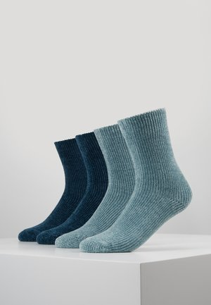 CHINILLE SOCKS 4 PACK - Calcetines - blue