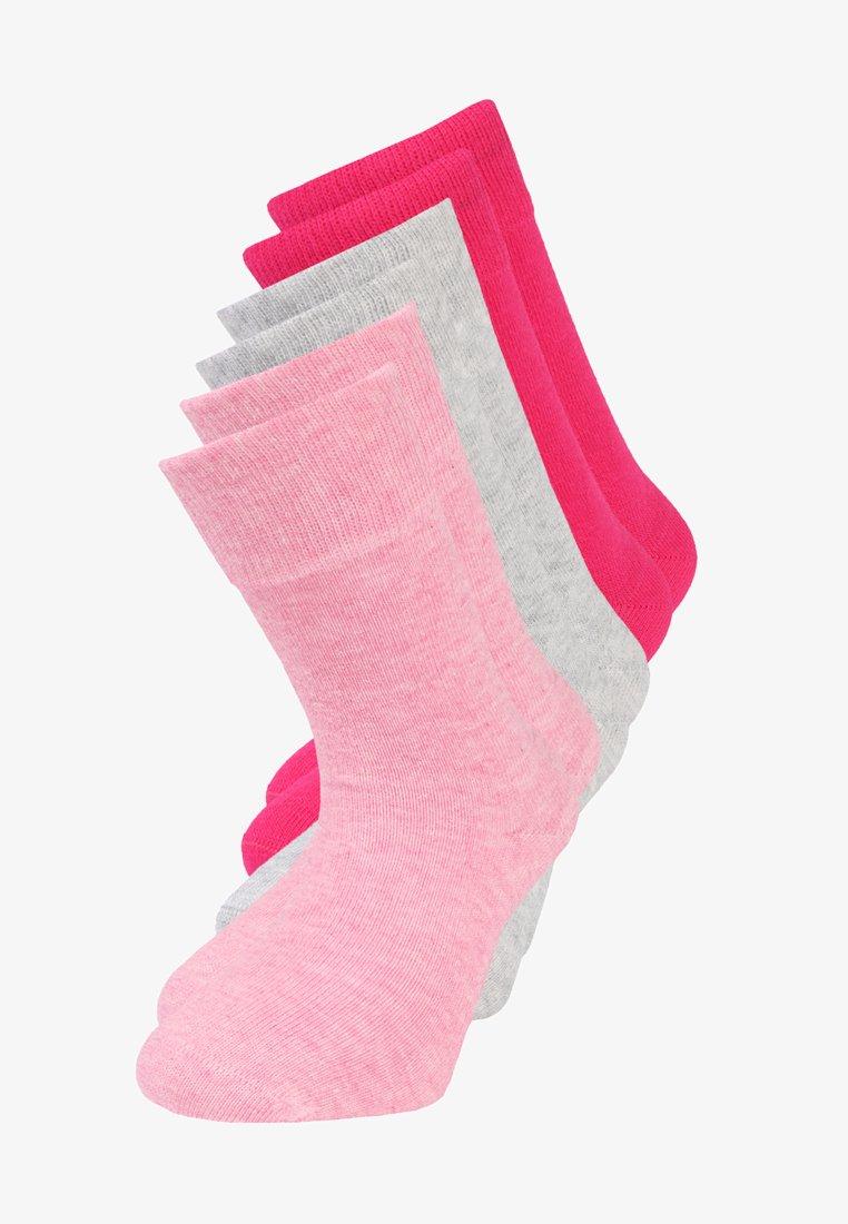 camano - SOFT 6 PACK - Ponožky - pink melange/fog melange/pink rose