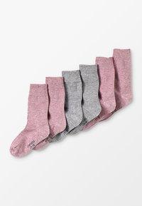 camano - SOFT 6 PACK - Ponožky - chalk pink melange - 0