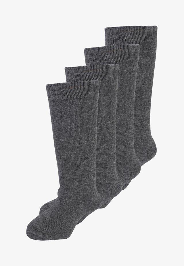 4 PACK - Knee high socks - anthracite