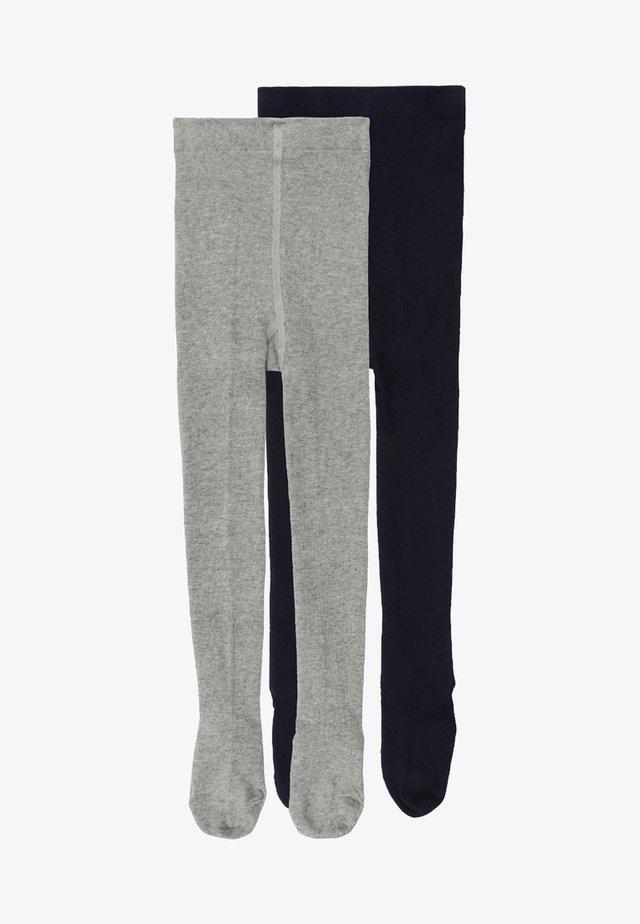 2 PACK - Strumpfhose - light grey/navy