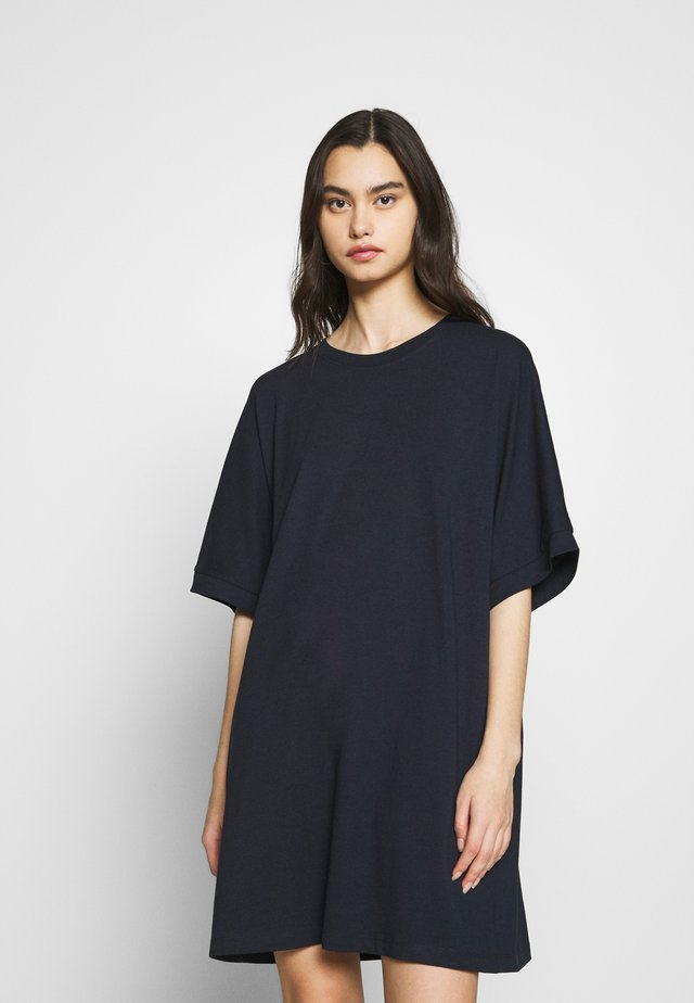 T-SHIRT DRESS - Jerseykjole - dark blue