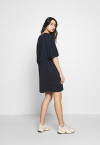 CALANDO - Jersey dress - dark blue - 2