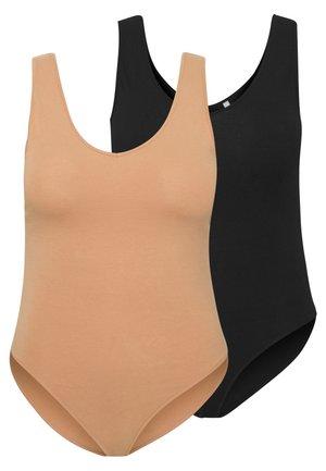 2 PACK - Top - beige/black