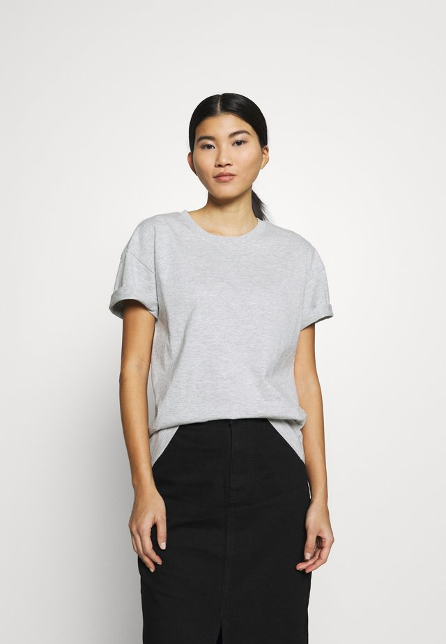 Basic T-shirt - light grey melange